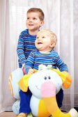 Brothers are smiling — Stock Photo