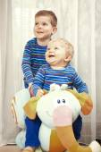 Smiling brothers — Stock Photo
