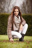 Nice brunette girl — Stock Photo
