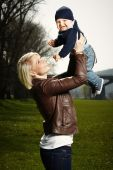 Mother and her little boy — Stock Photo