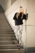 Blonde fashion model posing — Stock Photo