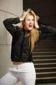 Nice lady posing for fashion — Stock Photo
