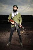 カラシニコフと戦闘機 — ストック写真