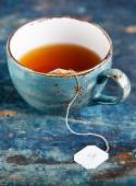 Cup of tea with teabag — Stock Photo