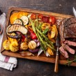 Club Beef steak with pepper sauce — Stock Photo #54022009
