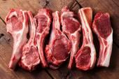 Raw fresh lamb ribs — Stock Photo