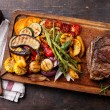 Club Beef steak and Grilled vegetables — Stock Photo #54099305