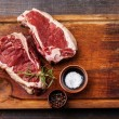 Постер, плакат: Raw fresh meat Ribeye Steak and seasoning