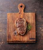 Grilled Beef steak Ribeye and seasoning — Foto Stock