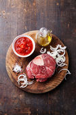 Cross cut veal shan — Stock Photo