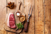 Beef New York steak Striploin — Stock Photo