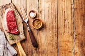 Fresh meat Striploin steak — Stock Photo