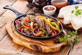 Beef Fajitas with  bell peppers — Stock fotografie