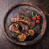 Roasted lamb ribs — Stock Photo