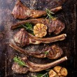 Lamb ribs with spices and garlic — Zdjęcie stockowe #62783205
