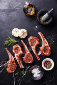 Meat mutton lamb ribs with herbs — Foto Stock