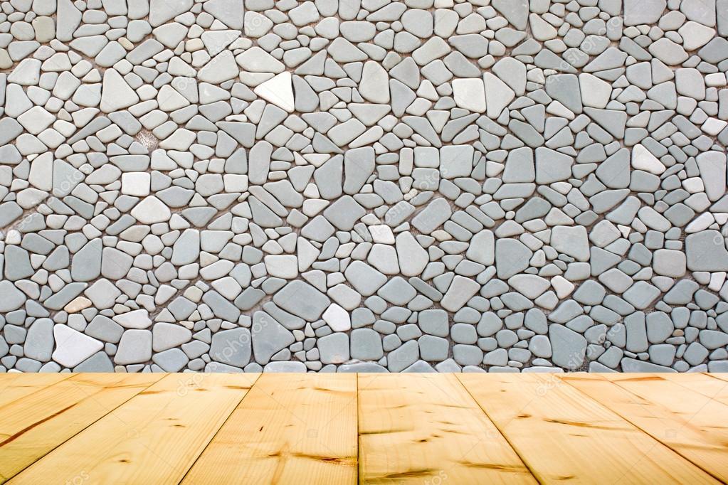 흰색 회색 컬러 벽돌 질감된 벽 나무 바닥 타일 — 스톡 사진 ...