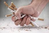 Man refusing cigarettes — Stock Photo