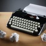 Typewriter and writers block — Stock Photo #63472861