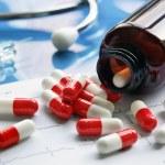 Prescription medicine pill bottle — Stock Photo #70906637