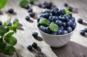 Blueberry antioxidant organic in a bowl — Stock Photo