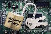 Violazione della sicurezza di computer — Foto Stock