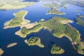 Aerial view of lake — Stock Photo