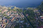 Aerial view of Gizycko — Stock Photo