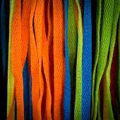 色彩缤纷的鞋带 — 图库照片