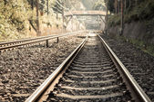 Rail way — Stock Photo