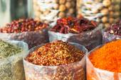 Spices and herbs souk in Dubai — Stock Photo