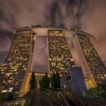 Marina Bay Sands Resort Hotel at night in Singapore — Stock Photo #73992937