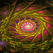 Abstract fractal multicolored spiral — Stock Photo #80209320