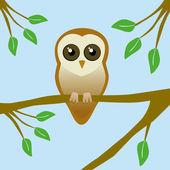 Cute barn owl — Stock Vector