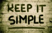 Keep It Simple Concept — Stockfoto