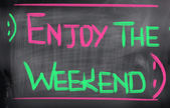 Disfrute el concepto de fin de semana — Foto de Stock