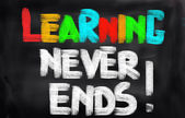 Learning Never Ends Concept — Foto de Stock