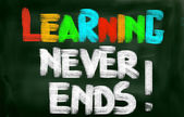 Learning Never Ends Concept — Stockfoto