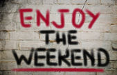 Aproveite o conceito de fim de semana — Fotografia Stock