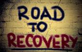 Estrada para o conceito de recuperação — Foto Stock