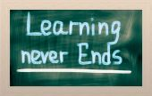 Learning Never Ends Concept — Foto Stock