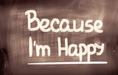 Because I'm Happy Concept — Stock Photo