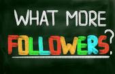 какие еще концепция последователей — Стоковое фото