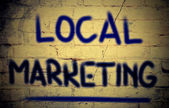 Conceito de marketing local — Fotografia Stock