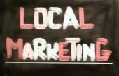 местные концепции маркетинга — Стоковое фото