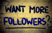 Want More Followers Concept — Stock Photo