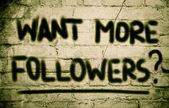 Want More Followers Concept — Foto de Stock