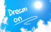 Dream On Concept — Stock Photo