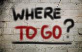 Where To Go Concept — Stock Photo