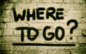 Where To Go Concept — Stock fotografie